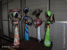 Поделка изделие Плетение Африканцы и слон   Бумага газетная Трубочки бумажные фото 3