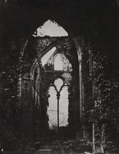 funeral-wreath:  John Wheeley Gough Gutch, Abbey Ruins, 1858.