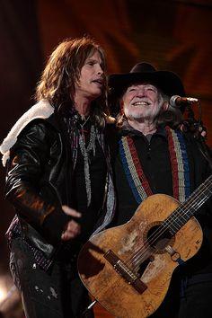 Steven Tyler in Denver and Willie in Albq. NM