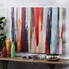 Abstract Brushstrokes Canvas Art Print