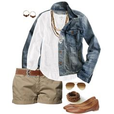 Jean Jacket & Khaki Shorts
