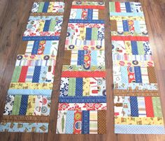 I made a super fun and easy    jelly roll quilt over the weekend...          Jelly Roll Jam 2!   The pattern is by Fat Quarter Shop    ...