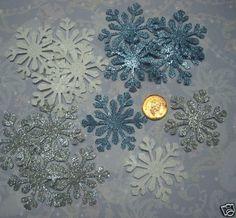 75 big snowflakes glitter himalayan martha stewart