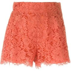 Dolce & Gabbana floral lace shorts ($1,000) ❤ liked on Polyvore featuring shorts, bottoms, dolce & gabbana, pants, floral printed shorts, side zip shorts, scalloped shorts, floral shorts and scallop hem shorts
