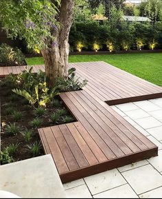 35 Outstanding Garden Design Ideas With Best Style To Try is part of Deck garden - A lot of people are fond of outdoor activities For that reason, it gives way to the popularity of patio, […] Back Gardens, Outdoor Gardens, Outdoor Plants, Deck Around Trees, Timber Deck, Wood Decks, Garden Spaces, Garden Landscaping, Garden Path