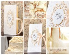 wedding, cards, invitation, cream, vanilla, handmade