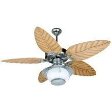 "View the Craftmade K10527 Outdoor Patio Fan Ceiling Fan with Five 54"" Outdoor Tropic Isle Light Oak Blades and Outdoor Bowl Light Kit at LightingDirect.com."