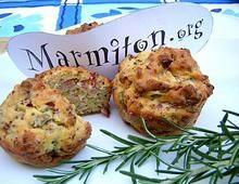 Muffin jambon et olives vertes