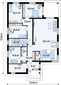 Проект дома Z195 - план-схема 1