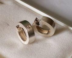 Vintage Ohrhänger - Creolen Ohrringe Silber 925 Kristall Vintage SO151 - ein Designerstück von Atelier-Regina bei DaWanda