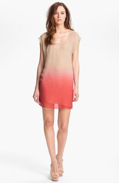 Love a little ombre! Haute Hippie Silk Chiffon Dress