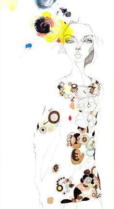 I want a Julie Verhoeven illustration Art And Illustration, Illustration Techniques, Fashion Illustration Sketches, Fashion Sketchbook, Fashion Sketches, Graffiti, Julie Verhoeven, Female Art, Art Drawings