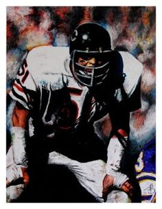 Dick Butkus Oil Pastel by APBialek
