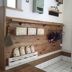 写真へたですみません/男前もナチュラルもどっちも好き/ステンシル/収納小物…などのインテリア実例 - 2017-06-23 10:59:11 | RoomClip(ルームクリップ) Wooden Diy, House Rooms, Home Decor Accessories, Home Organization, Home Crafts, Decor Crafts, Diy Crafts, Diy Room Decor, Diy Design