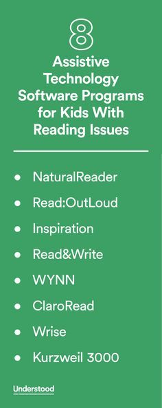 If your child has reading issues, there's a range of assistive technology software that may help. Most of these computer programs offer several tools for reading aloud, such as text-to-speech (TTS) and optical character recognition (OCR). They may also offer other features.