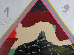 pintura esmalte sintetico sobre madera 90 x 60 cmts