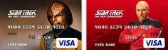 Star Trek The Next Generation Themed Visa Cards