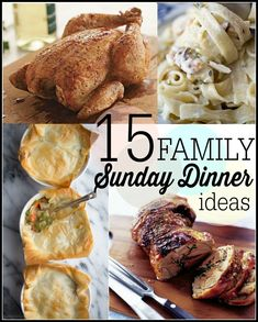 15 Sunday Family Dinner Ideas #dinner #recipes #spon