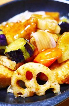 鶏むね肉と野菜の甘酢あんかけ(大戸屋風)