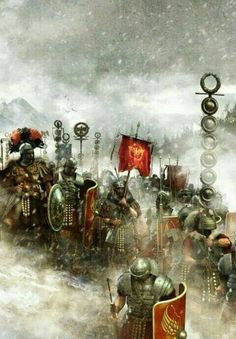 Winter Campaign under Germanicus. Rome History, Ancient History, Military Art, Military History, Rome Antique, Roman Warriors, Roman Legion, Templer, Roman Soldiers