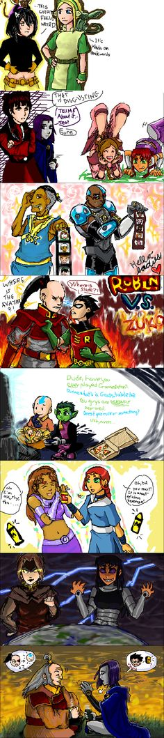 AvatarxTeen Titans Crossover by scotty9359.deviantart.com on @deviantART