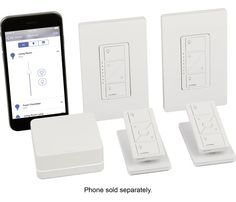 Lutron Caseta Wireless Smart Lighting Kit: Explore smart home technology with this smart lighting kit, which allows you to control your lights, shades and temperature from your compatible mobile device. The kit includes 2 dimmers and matching wallplates, 2 Pico remotes and tabletop pedestals and the Lutron Smart Bridge.