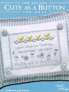 Cute as a Button Boys - Cross Stitch Pattern