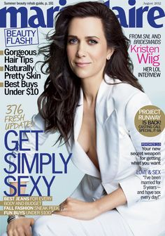 Kristen Wiig, Marie Claire's new covergirl