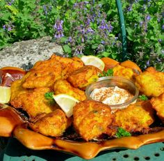 Salted Cod Fritters w/ Saffron and Pimenton