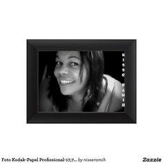Foto Kodak-Papel Profissional-17,78cm x 12,7cm, Impressão De Foto + Moldura Padrão