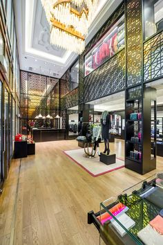 A view inside Shanghai Tang's flagship store in Hong Kong. It's one of my favorite luxury brands.