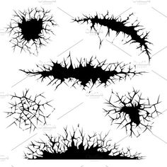 Vector cracked ground and wall Graphics Vector cracks, cracked ground and wall. Ground or wall, crack abstract, crash distress, edge cracked by Microvector Graffiti Drawing, Wall Drawing, Graffiti Lettering, Watercolor Drawing, Painting & Drawing, Rock Painting, Watercolor Paintings, Stencil Templates, Stencil Patterns