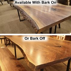 Browse Country Lane Furnitureu0027s Amish Live Edge Slab Tables Like This Wormy  Maple Live Edge Slab, With Custom Sizes And Wood Species Available.