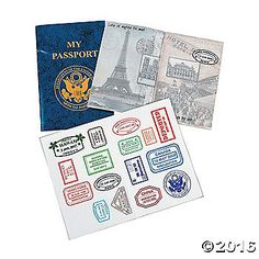 """My Passport Sticker Books. See the world one sticker at a time! With """"My Passport"""" Sticker Books, kids can take a pretend vacation on every page! ..."""
