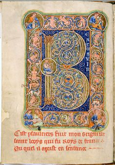 Psalter. Latin, Parchment, 185 ff., 245x177 mm. Northern England, 1190-1200. Leiden, UB : ms. BPL 76 A
