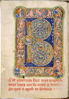 Psalter. Latin, Parchment, 185 ff., 245x177 mm. Northern England, 1190-1200. Leiden, UB : ms. BPL 76 A
