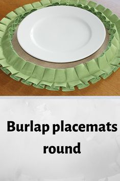 easter placemats round burlap with green ruffles table decor farmhouse decor Easter Placemats, Christmas Placemats, Christmas Table Cloth, Tablecloth Size Chart, Rustic Farmhouse Decor, Rustic Decor