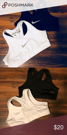 Nike Sports Bras - Girls Large - Black and White Great buy! Both are Girl's Large.  Very gently used. Nike Other