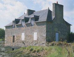 Moulin à marée de Kervilio,  rivière du Bono, golfe du Morbihan   Brittany