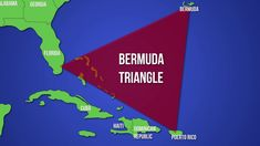The Bermuda Triangle is a mythical section of the Atlantic Ocean roughly bounded by Miami, Bermuda and Puerto Rico where doze. Haiti And Dominican Republic, Bermuda Triangle, Shocking Facts, Funny Facts, Random Facts, New Names, Travel Information, Writing A Book, Puerto Rico