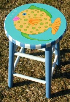 81 Cool Painted Stool Inspirations https://www.futuristarchitecture.com/11210-painted-stools.html