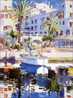 Nice water surface!  (watercolor by Hazel Soan)