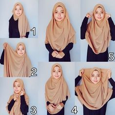 Simple Hijab Style for School and College Square Hijab Tutorial, Simple Hijab Tutorial, Hijab Style Tutorial, Hijab Style Dress, Hijab Outfit, Hijab Niqab, Stylish Hijab, Hijab Chic, Muslim Fashion