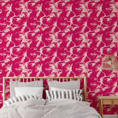 Watercolor Pattern Peel and Stick Wallpaper - Canvas Wall Decal / 1 roll: 24W x 84H
