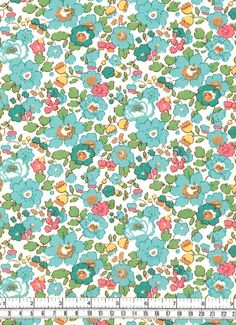 Liberty Fabric Betsy Turquoise