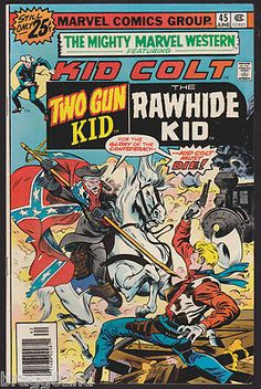 1976 Marvel Comics MIGHTY MARVEL WESTERN #45 Two Gun & Rawhide Kid NICE!