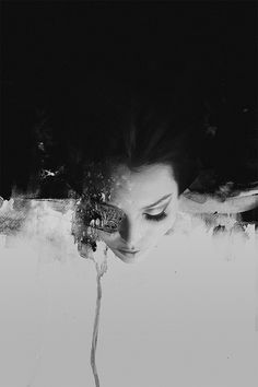 Januz Miralles creates abstract portraits of human figures by mixing multiple painting techniques with digital photo manipulation and photography. Photo D Art, Abstract Portrait, Portrait Art, Photo Manipulation, Manipulation Photography, Painting Techniques, Painting Tutorials, Dark Art, Fine Art Photography