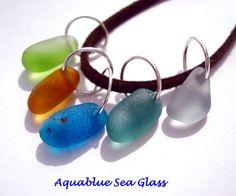 5 Drilled Sea Glass  Medium  Charms  Rare by aquablueseaglass, $13.99
