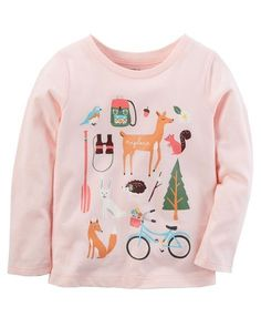 Toddler Girl Camping Tee from Carters.com. Shop clothing & accessories from a trusted name in kids, toddlers, and baby clothes.
