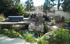 Fish pond with Jacuzzi Deck
